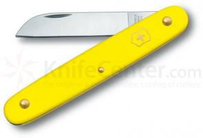 Victorinox Swiss Army 4 inch Floral Knife, Yellow