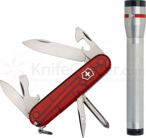 Victorinox Swiss Army Ruby Translucent Tinker Multi-Tool/LED Flashlight Combo