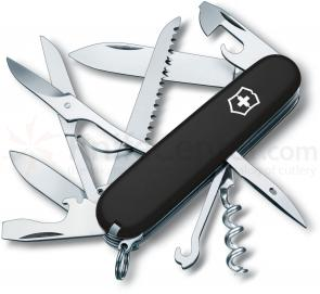 Victorinox Swiss Army Huntsman Multi-Tool, Black, 3.58 inch Closed