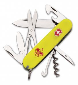 Victorinox Swiss Army 53389 Climber Multi-Tool, Boy Scouts of America, 3-5/8 inch Yellow Handles