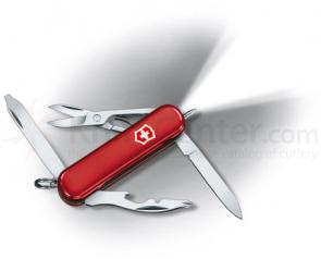 Victorinox Swiss Army Midnight Manager Multi-Tool with LED, 2-1/4 inch Red Handles