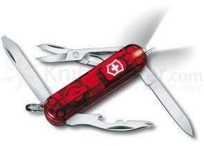 Victorinox Swiss Army Midnight Manager Multi-Tool with LED, 2-1/4 inch Translucent Ruby Handles (53756)