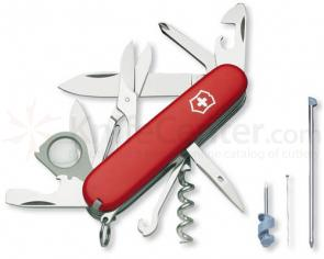 Victorinox Swiss Army Explorer Plus Multi-Tool, 3-1/2 inch Red Handles