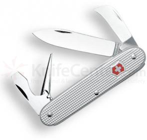 Victorinox Swiss Army Pioneer Rancher Multi-Tool, 3-1/2 inch Silver Alox Ribbed Handles