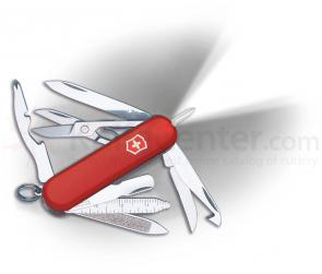 Victorinox Swiss Army Midnite Minichamp with LED, 2-1/4 inch Red Handles