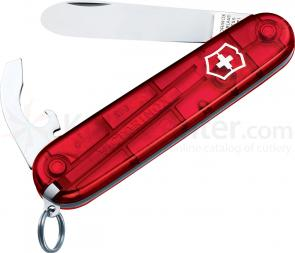 Victorinox Swiss Army My First Victorinox Multi-Tool, Translucent Red, 3.31 inch Closed