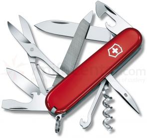 Victorinox Swiss Army Mountaineer Multi-Tool, Red, 3.58 inch Closed
