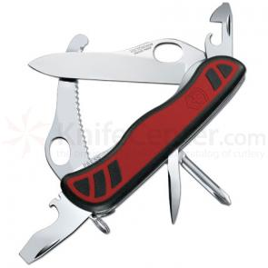 Victorinox Swiss Army Dual Pro X Multi-Tool, 4-3/8 inch Red Grip Handles