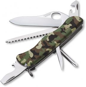 Victorinox Swiss Army One-Hand Trekker Non-Serrated Multi-Tool, Camouflage, 4.37 inch Closed