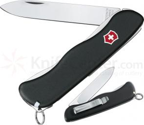 Victorinox Swiss Army Sentinel with Clip, Plain Edge, 4-3/8 inch Handle