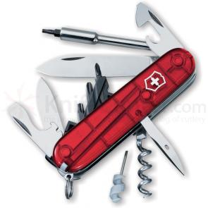 Victorinox Swiss Army Cybertool 29 Multi-Tool, 3-1/2 inch Ruby Handles
