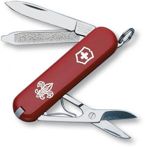 Victorinox Swiss Army Classic SD Multi-Tool, Boy Scout Logo, 2-1/4 inch Red Handles