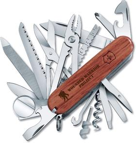 Victorinox Swiss Army Wounded Warrior Project SwissChamp Multi-Tool, 3.5 inch Closed, Hardwood Handles