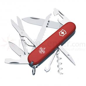 Victorinox Swiss Army Huntsman Multi-Tool. 3-1/2 inch Boy Scout Logo Red Handles