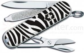 Victorinox Swiss Army Classic SD Zebra Fashion Print Multi-Tool, 2-1/4 inch Closed