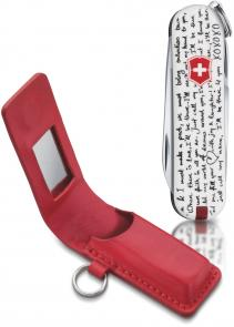Victorinox Swiss Army 58228 Classic SD Love Song Classic Fashion Print Multi-Tool, 2-1/4 inch Closed, Red Leather Pouch