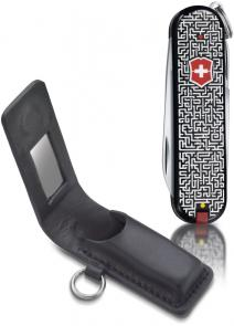 Victorinox Swiss Army 58229 Classic SD Labyrinth Fashion Print Multi-Tool, 2-1/4 inch Closed, Black Leather Pouch