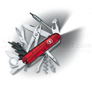 Victorinox Swiss Army Cybertool 34 Lite in Ruby Multi-Tool, 3-1/2 inch Closed