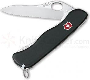Victorinox Swiss Army One-Hand Sentinel, Serrated, 4-3/8 inch Handle