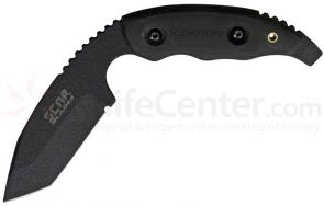 SCAR Blades Scorpion Fixed 3 inch Black Tanto Blade, Black Micarta Handles, Kydex Sheath