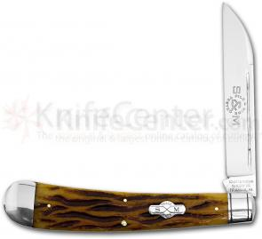 Schatt & Morgan 2012 File & Wire Large Swayback Clasp Knife, 5-3/8 inch Closed ATS34 Blade