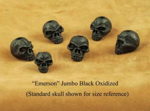 Schmuckatelli Black Oxidized Pewter Jumbo Emerson Skull Bead