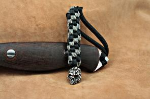 Schmuckatelli Pewter Mind Skull Lanyard, Black/Camo