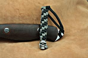 Schmuckatelli Pewter Rose Skull Lanyard, Black/Camo