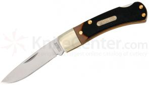 Schrade 3OT Old Timer Bearhead Lockback Folder 3 inch Closed, Sawcut Delrin Handles