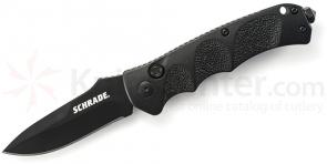 Schrade Extreme Survival AUTO 3.3 inch Black Plain Drop Point Blade, Aluminum Handles