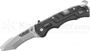 Schrade Professionals 1st Response 3.4 inch Assisted Satin Blunt Tip Blade Rescue Knife