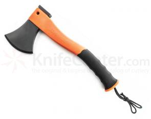 Schrade Extreme Survival Axe 11.8 inch Overall, Hidden Ferro Rod in Orange Handle, Hard Plastic Sheath