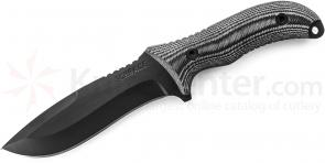 Schrade SCHF10 Extreme Survival Fixed 5.3 inch Black Blade, Micarta Handles, Nylon Sheath
