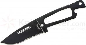 Schrade Extreme Survival Neck Knife 3.1 inch Combo Blade, Zytel Sheath
