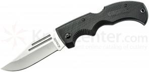 Schrade MA1 Old Timer Safe-T-Grip Folding Knife 3-5/8 inch Bead Blast Plain Clip Point Blade, Rubber Handles