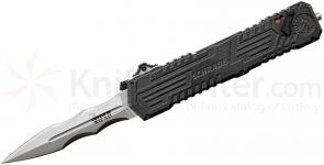 Schrade Extreme Survival Viper 3rd Gen OTF Assisted 3.5 inch Double Edge Spear Point Recurve Blade, Aluminum Handle
