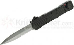 Schrade Extreme Survival Viper 3rd Gen OTF Assisted 3.5 inch Double Edge Spear Point Combo Blade, Aluminum Handle