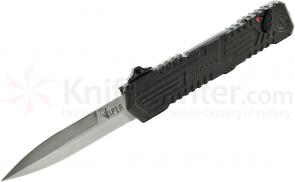 Schrade Extreme Survival Viper 3rd Gen OTF Assisted 3.5 inch Double Edge Spear Point Blade, Aluminum Handle