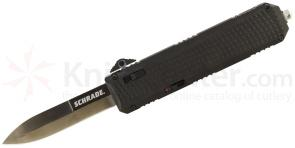 Schrade Extreme Survival 4th Gen OTF Assisted 3.2 inch Black Spear Point Plain Blade, Aluminum Handle