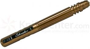 Schrade Aluminum Interchangeable Fountain and Rollerball Tactical Pen, Brown