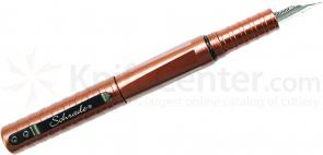 Schrade PEN7BR Aluminum Tactical Fountain Pen, Brown