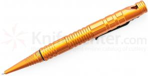 Schrade (Orange) Aluminum Tactical Survival Pen with Fire Steel, Striker & Whistle