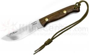 Scorpion Knives Chris Caine Special Edition  inchSignature inch Survival Knife, 4-1/2 inch Plain Satin Blade, Spiced Walnut Handle