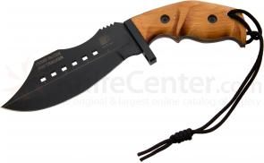 Scorpion Knives Perry McGee MK2 Pro Tracker 6-1/2 inch Black Coated Blade, Beech Wood Handle
