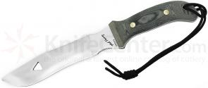 Scorpion Knives Mel Parry  inchSignature inch Hunter, 7.5 inch Satin Blade, Linen Micarta Handle