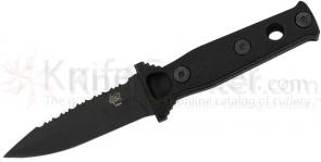 Scorpion Knives Geoff  inchTank inch Todd Black  inchSignature inch Knife, 3.75 inch Black Double Edge Blade with Cordura Sheath