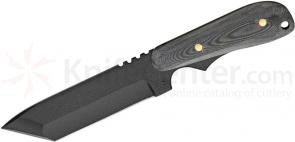 Shadow Tech Ranger Tanto Fixed 4-1/2 inch Black 1095 Carbon Blade, Micarta Handle, Kydex Sheath