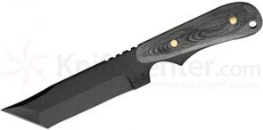 Shadow Tech Ranger Modified Tanto Fixed 4-1/2 inch Black 1095 Carbon Blade, Micarta Handle, Kydex Sheath