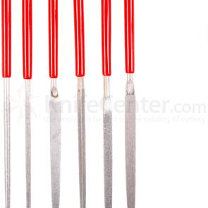 EZE-LAP Flat Warding - Fine Needle File - Red Handle