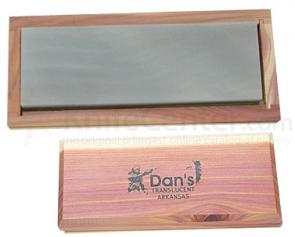 Dan's Whetstone Translucent Extra-Fine Bench Stone in Wooden Box (6 inch x 2 inch x 1/2 inch)